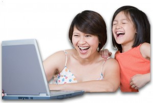 motherDaughterLaptopFacingLeft
